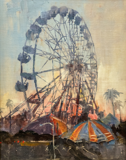 A hot Summer afternoon day at the L.A. County Fair. <br><br><br><em>Fair Weather</em> was painted on-site at the L